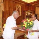 Yeddyurappa calls on defence minister