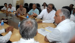 C M Discussing with Kannada Activists
