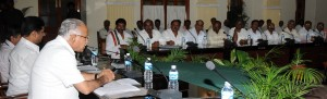 Chief Minister B S Yaddyurappa discussed with Fair Price  Owners associaters ion office bears & Food Dept Officers regarding food grains
