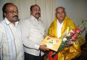 Sri Paridi ilamvaludi ,Minister for information Govt, of Tamilnadu invited to Sri B S Yeddyurappa ,Chief minister of karnataka on 12.08.2009. for unveiling ce mony of Sarvajna statue at chennai to be held on 13.08.2009.