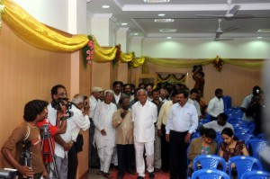 Chief minister B S Yeddiyurappa arriving  in  newly renovated press club Building in Bangalore on 25.08.2009.