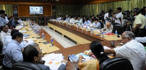 CM interacting with district incharge of drought affected areas in video conference