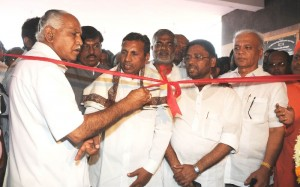 Chief Minister B S Yeddyurappa inaugurated Bagalakote DCC Bank new Building @ Bagalakote.Union Minister Of State For Raiways,Opposition Leader In Lagislative Council V S Ugrappa,Industries Minister Murugesh R Nirani,DCC Bank Chairman R S Talevad,MLC S R Patil seen in pic