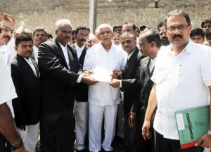 Advocates delegation represented Memorandum to Chief Minister B S Yeddyurappa today @ Gulbarga