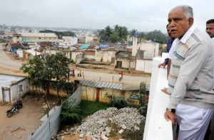 Chief Minister B S Yeddyurappa inspected Devolopement Works in Shivamogga Town.