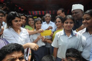 Prasidency School Children's contributed to calamity fund at R T Nagar