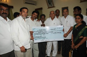 Rajajinagar  costituency peoples presented cheque