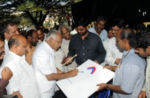 Chief minister Sri B S Yeddyurappa  inaugurated Artist's camp in Bangalore on 01.11.2009.The camp organised by karnataka Lalitakala Academy and Karnataka Nataka Academy for calamity fund.