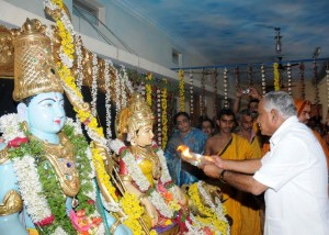 cm participated in Religious programme of Ramachandra Mutt
