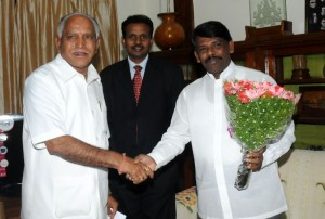Sri Krishna Murthi, Srilankan Deputy High Commissioner For south India In Chnnai met Sri B S Yeddyurappa,chief minister of karnataka in Bangalore on 03.12.2009