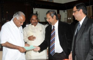 Srikanta Datta Odeyar Cheque Presented