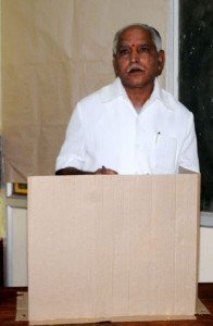 chief minister Bs Yeddyurappa voted for council   election at shikaaripura  3