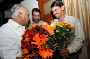 Sri Baratlal Meena ,commissioner of BBMP greeted  cm