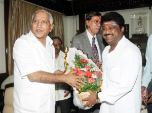 Sri Jaggesh, Dy Chairman of KSRTC greeted  CM