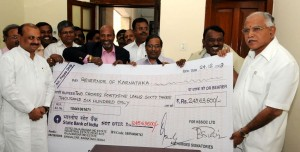 Dividend Cheque by KSSIDC to CM