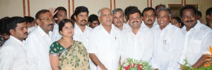 BS Yeddyurappa with newly elected corporates of BBMP