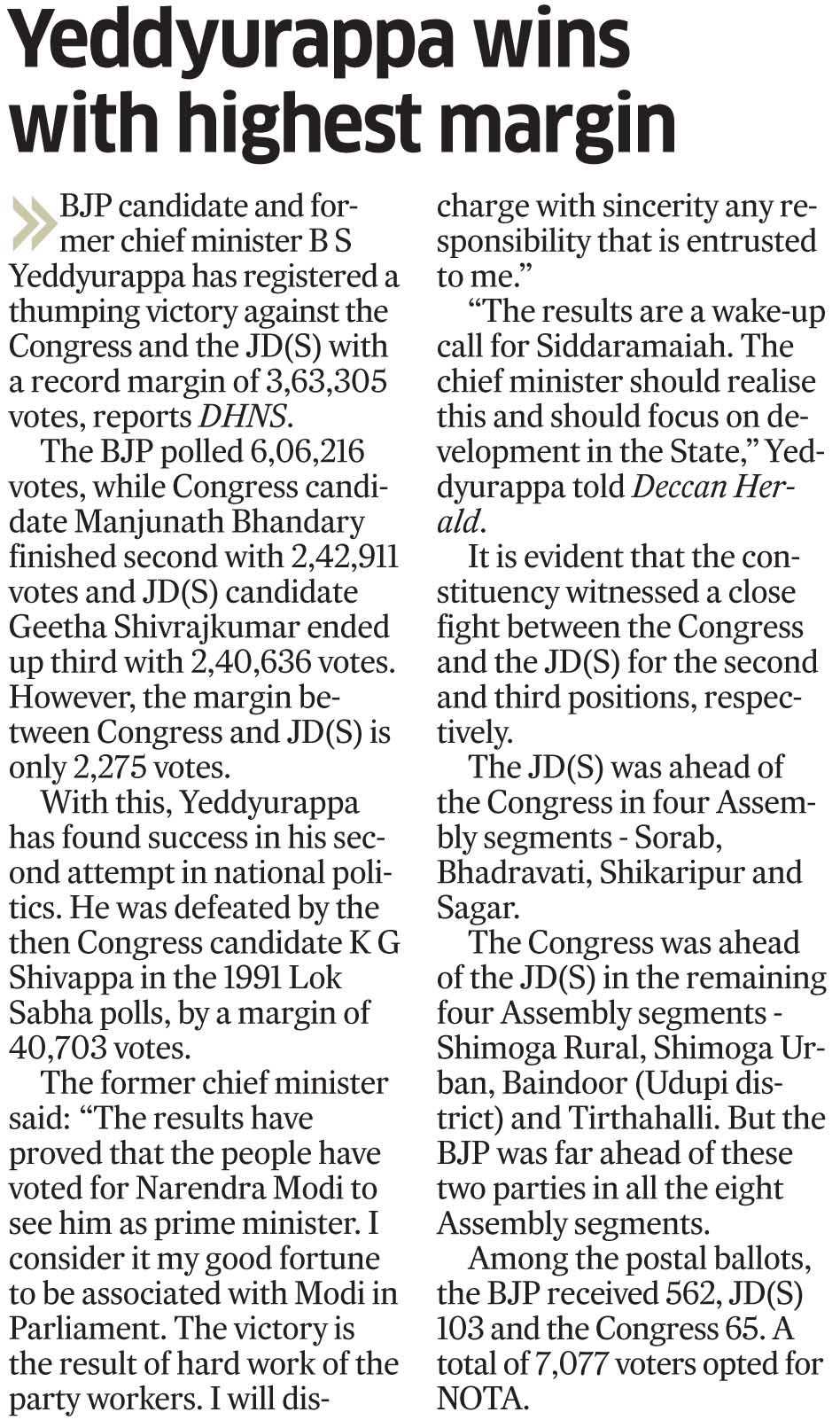 Deccan Herald 17-05-2014, Page 4