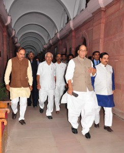 BJP MP's met Rajnath Singh 18-3-2015 3