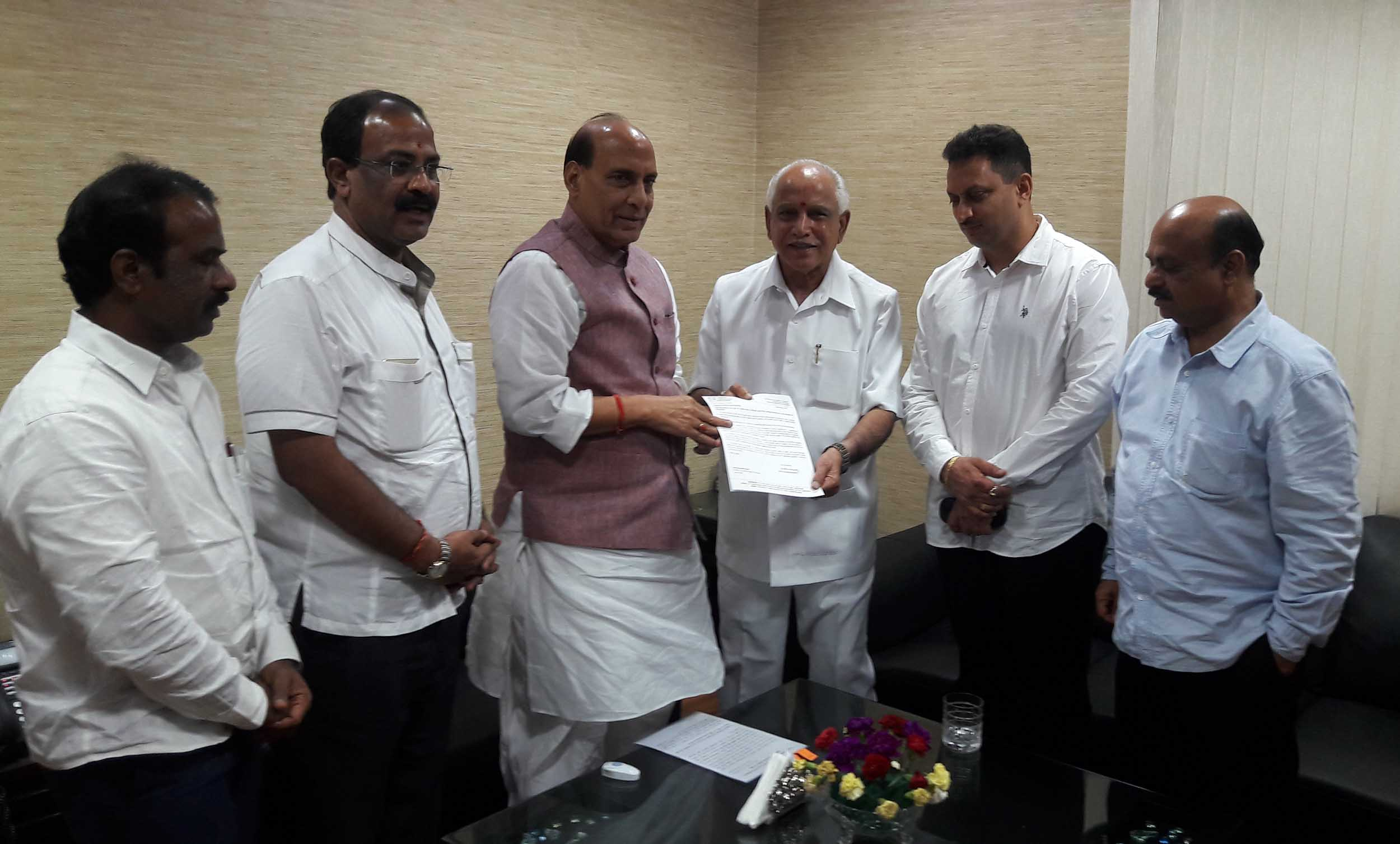 BSY Submitted Letter to Rajnath Singh 8-7-2016 2