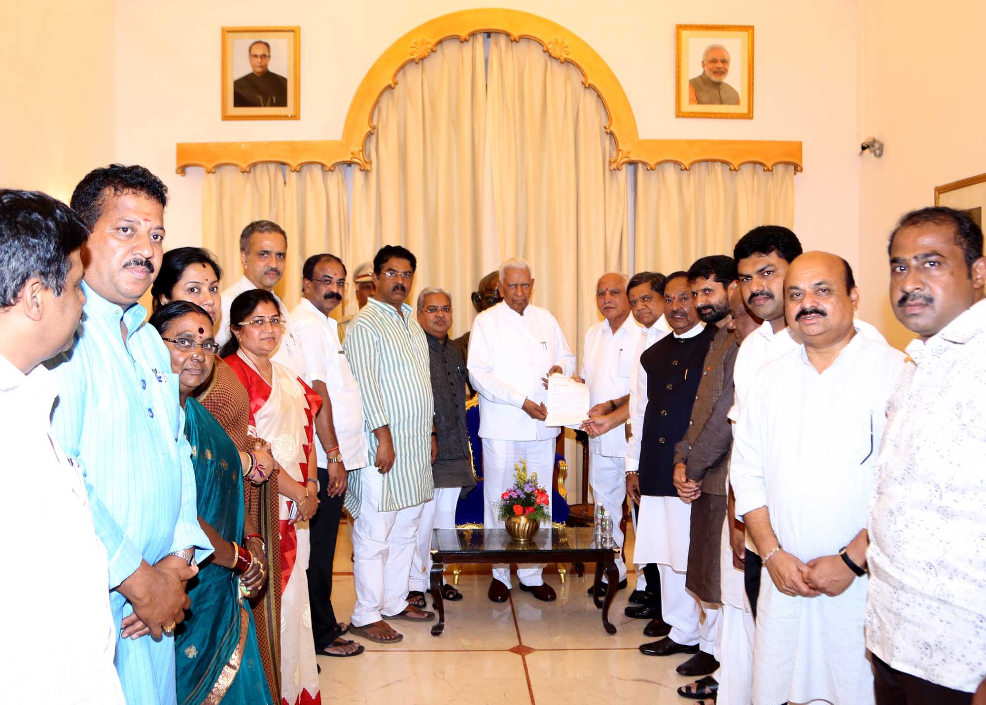 Governor Meeting on MK Ganapathi Issue 18-7-2016 2