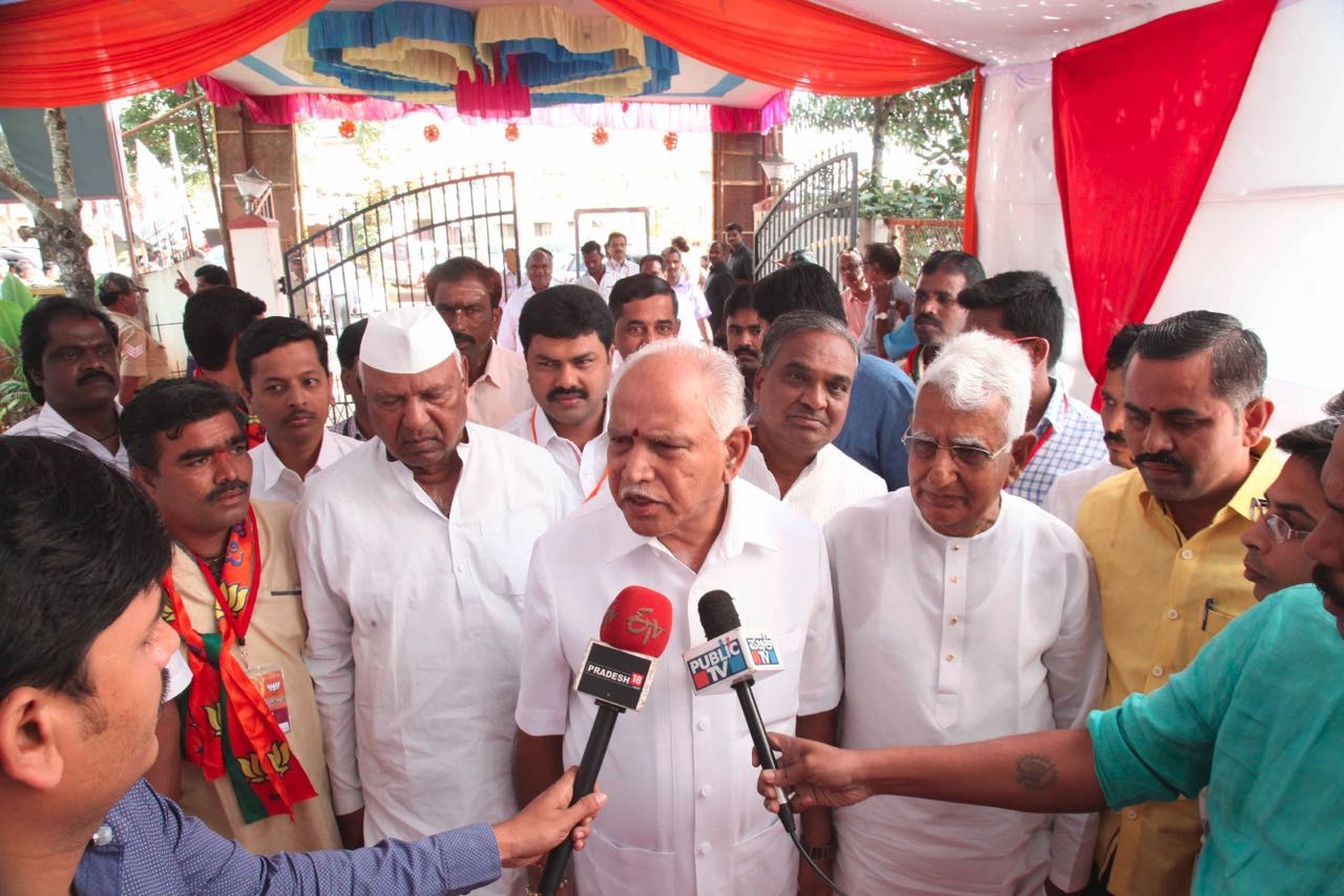 BSY in State Executive Committee meeting at Belagavi. (2)