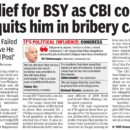 Relief for BSY as CBI court acquits him in bribery case