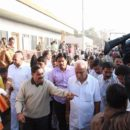 BSY interacting with farmers of drought affected Bagalkote district