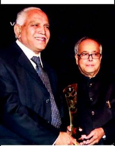 Award for Yeddyurappa
