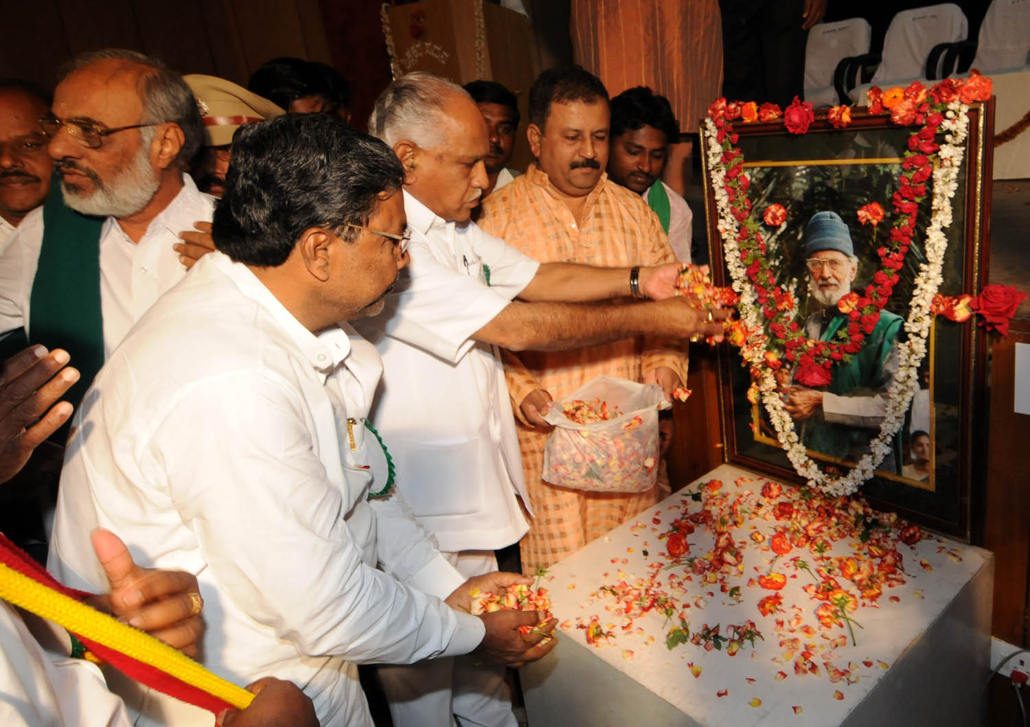 CM Inagurate the 75th Birth day celebration of Prof M D Nanjundaswamy