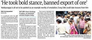 'He took bold stance, banned export of ore'