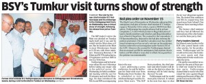 BSY's Tumkur visit turns show of strength