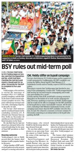 BSY rules out mid-term poll