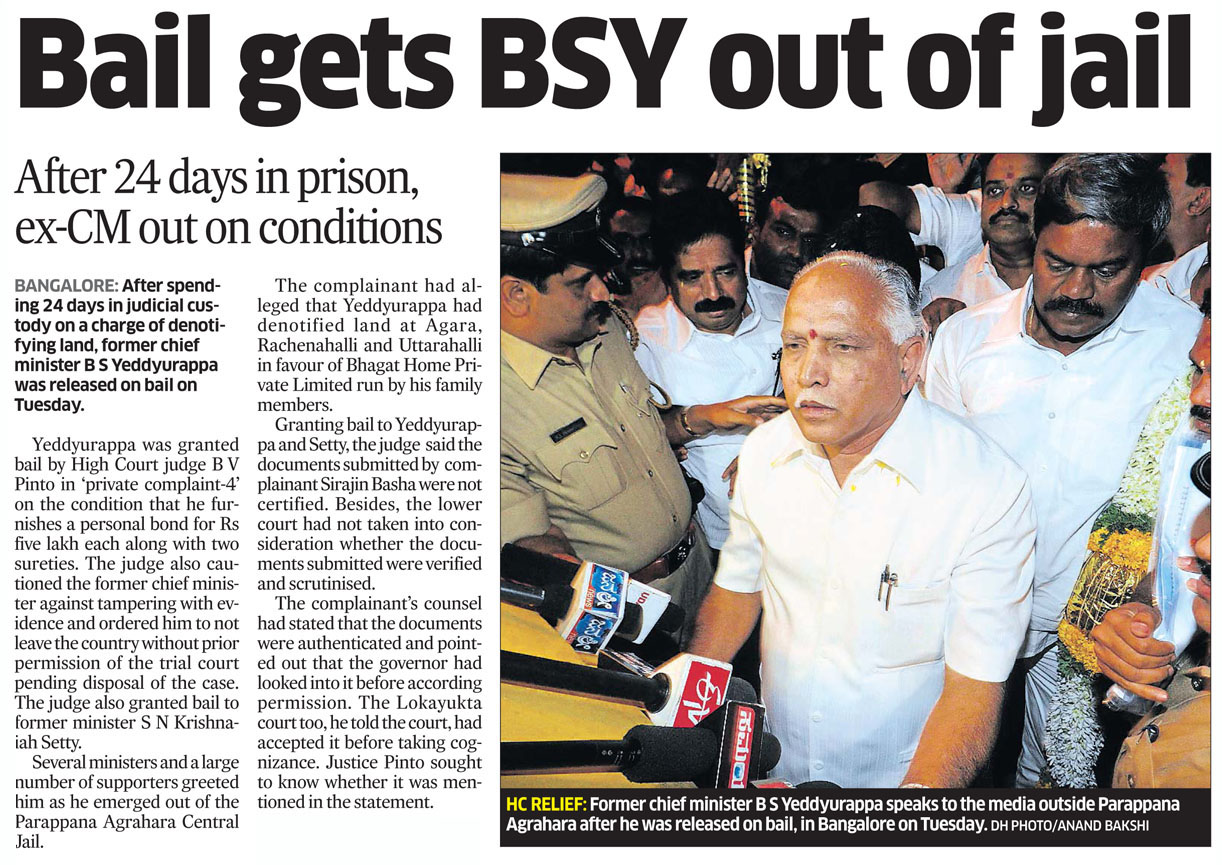 Bail gets BSY out of jail