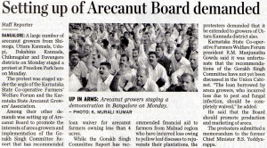 Setting up of Arecanut Board demanded