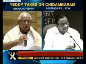 BS Yeddyurappa takes on Home Minister Chidambaram