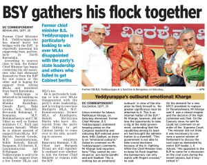 BSY gathers his flock together