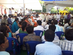 Dharna for Cauvery Water