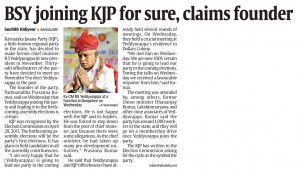 BSY joining KJP for sure, claims founder