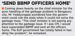 'SEND BBMP OFFICERS HOME'