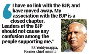 A have no link with the BJP, and hav moved away