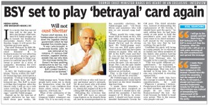 BSY set to play 'betrayal' card again