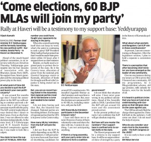 'Come elections, 60 BJP MLA's will join my party'
