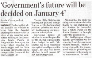 'Government's future will be decided on January 4'