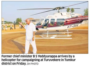 Election campaigning in Tumkur