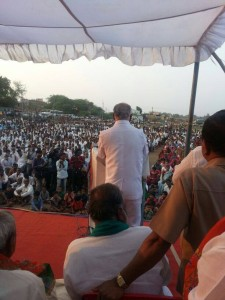 Huge gathering of nearly around 7000 people hearing my public speech at Uppina Badigera Taluk of Hubli-Dharwad constituency.