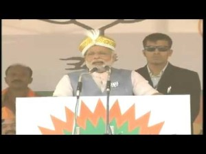 Shri Narendra Modi's BHARAT VIJAY rally in Mysore on 08-04-2014