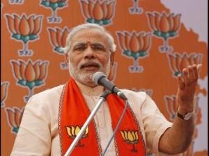Shri Narendra Modi's BHARAT VIJAY rally in Davangere on 18-02-2014