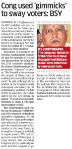 cong used 'gimmicks' to sway voters: bsy