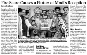 Fire Scare Causes a Flutter at Modi's Reception
