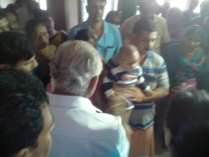 BS Yeddyurappa visited Nanditha's Parents at Thirthahally